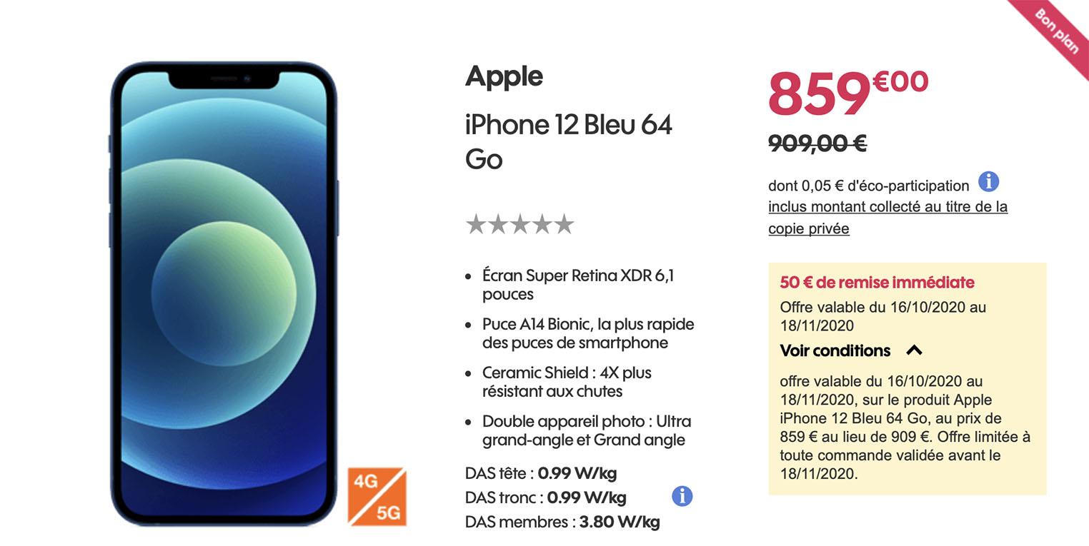 iPhone 12 promo Sosh
