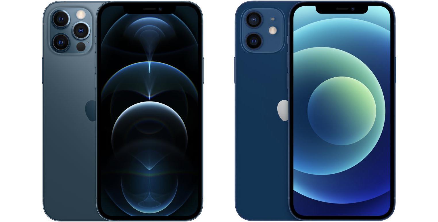 iPhone 12 Pro iPhone 12 bleu