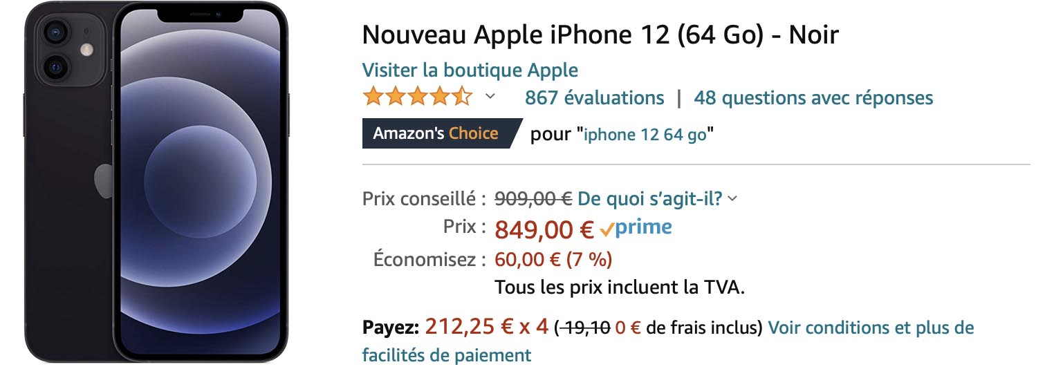 iPhone 12 Promo CDiscount