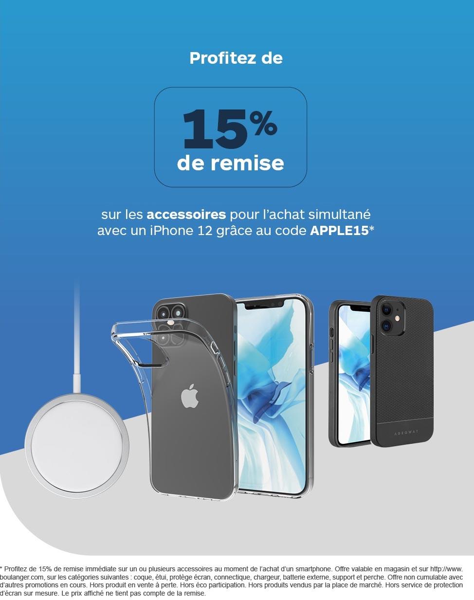 Promo accessoires iPhone 12 Boulanger