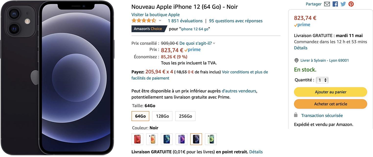 iPhone 12 promo Amazon