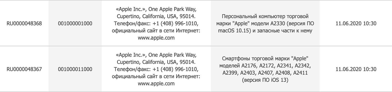 iPhone 12 dépôt EEC