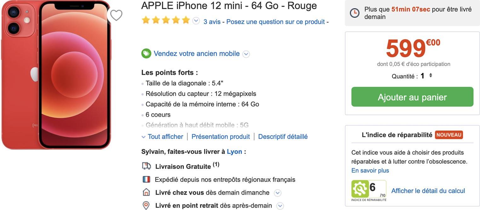 iPhone 12 mini CDiscount