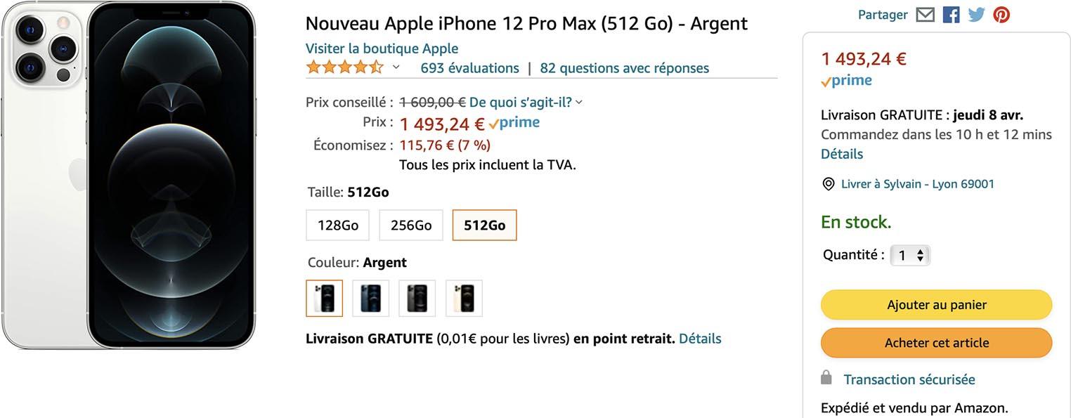 iPhone 12 Pro Max promo Amazon