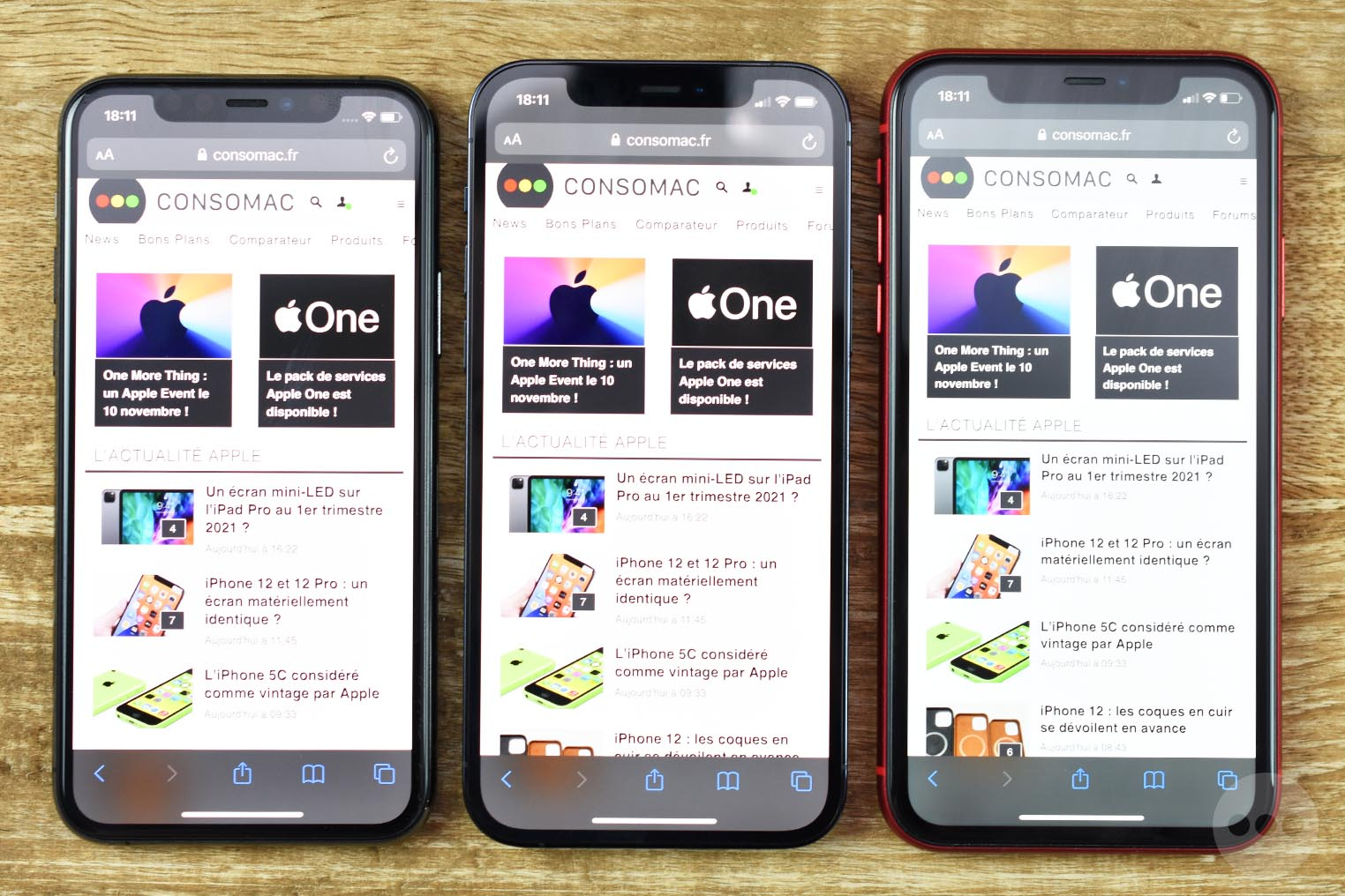 Comparaison tailles iPhone 11 iPhone 12