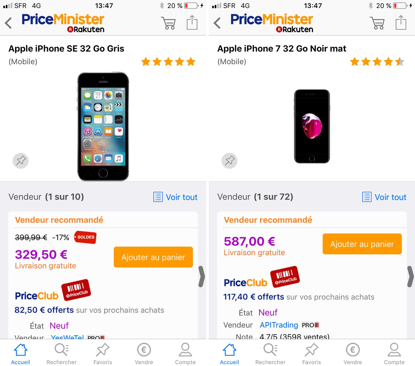 iPhone promo PriceMinister