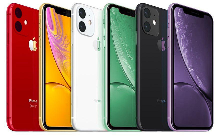 iPhone XR 2019 couleurs