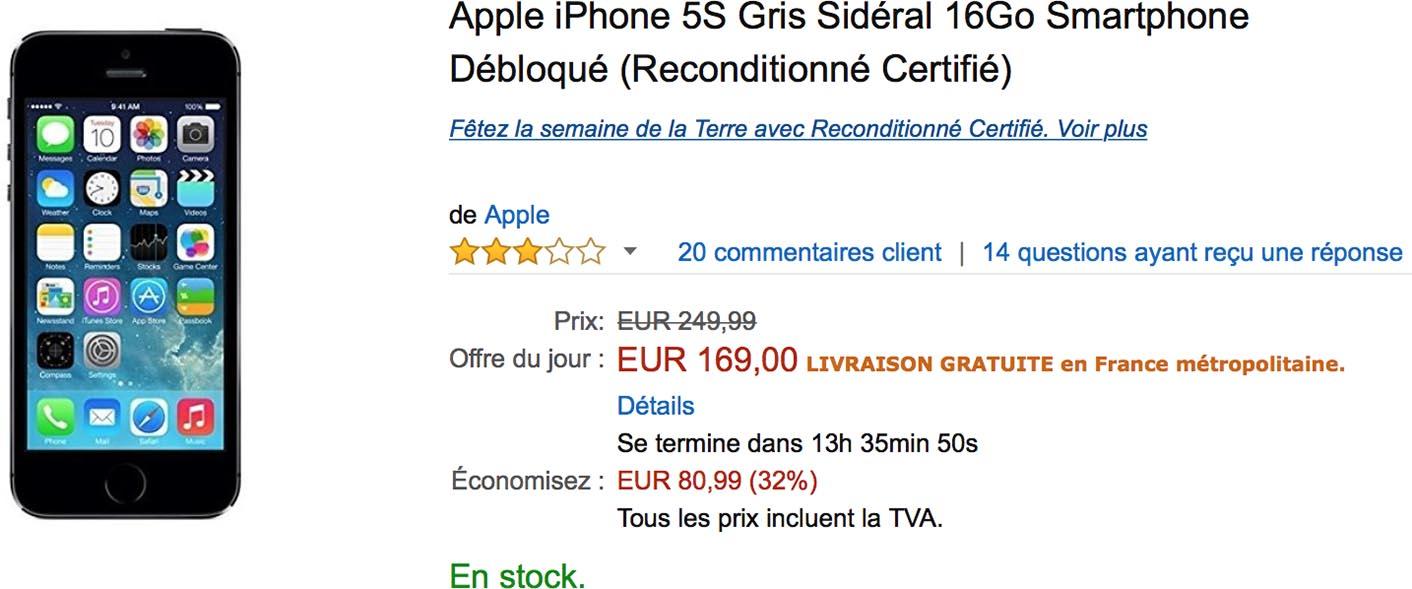 iPhone 5s promo Amazon