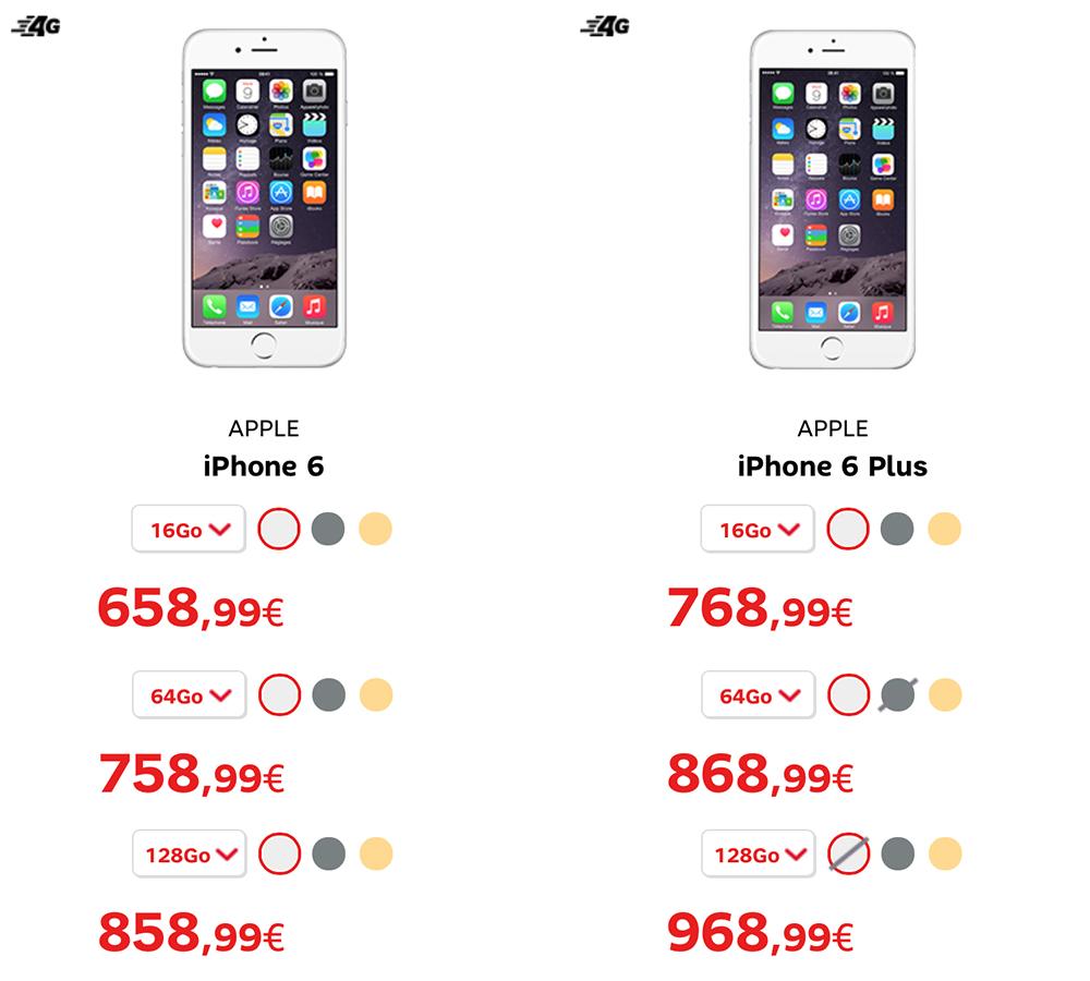 consomac sfr red deux mois offerts et l 39 iphone 6 moins cher
