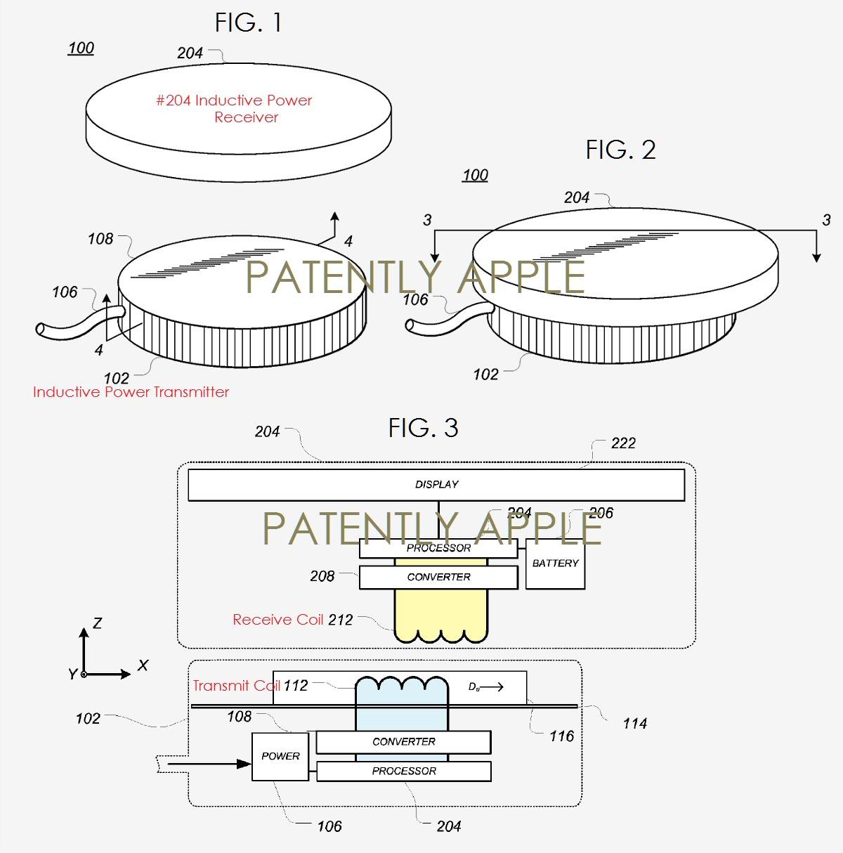 iPhone chargement par induction brevet