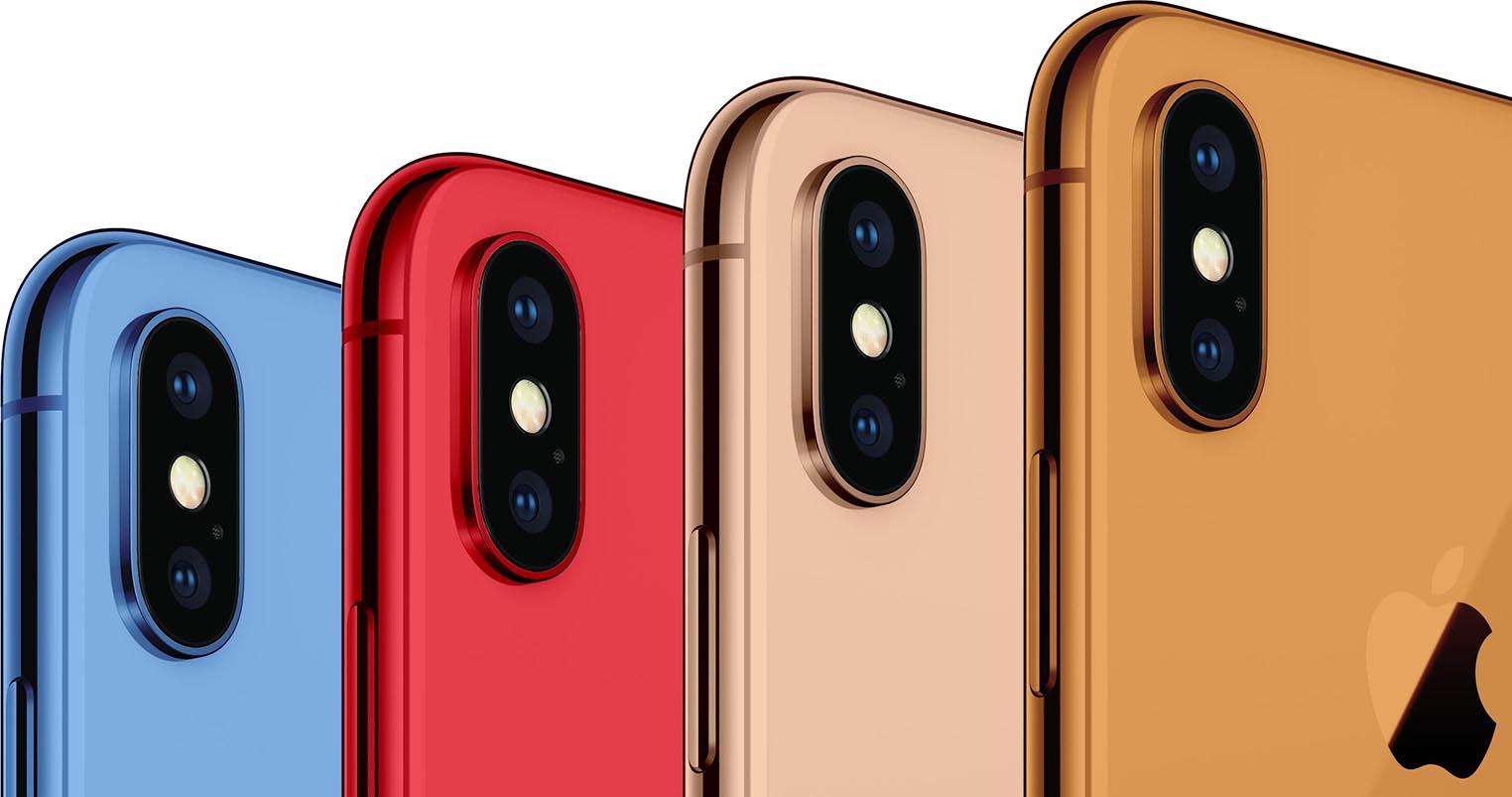 Nouvelles couleurs iPhone 2018