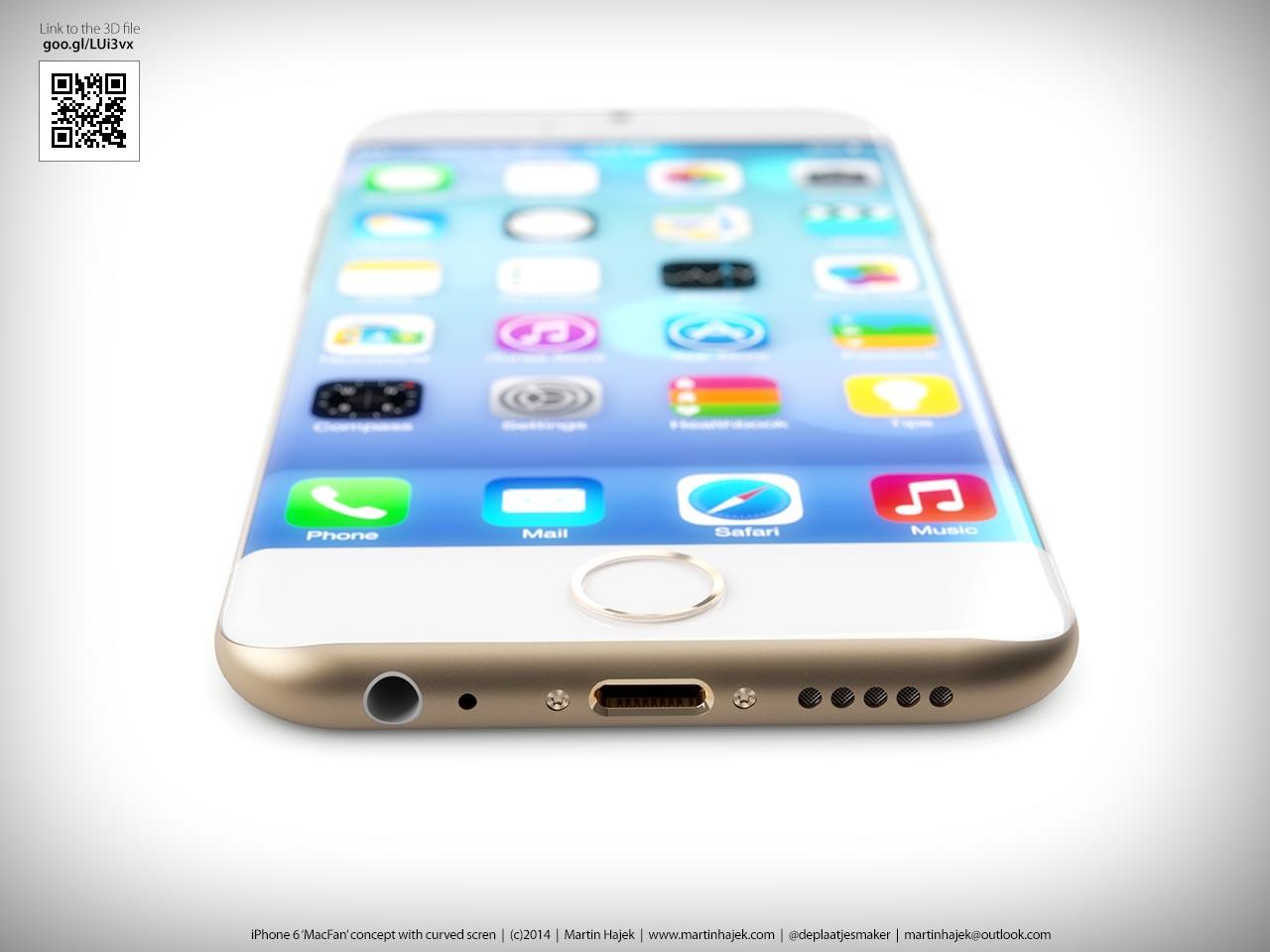 iPhone incurv� Martin Hajek