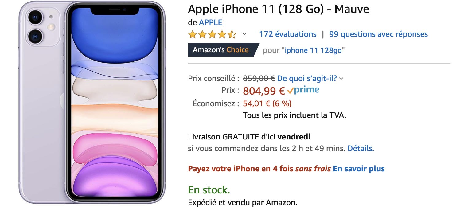 iPhone mauve Amazon