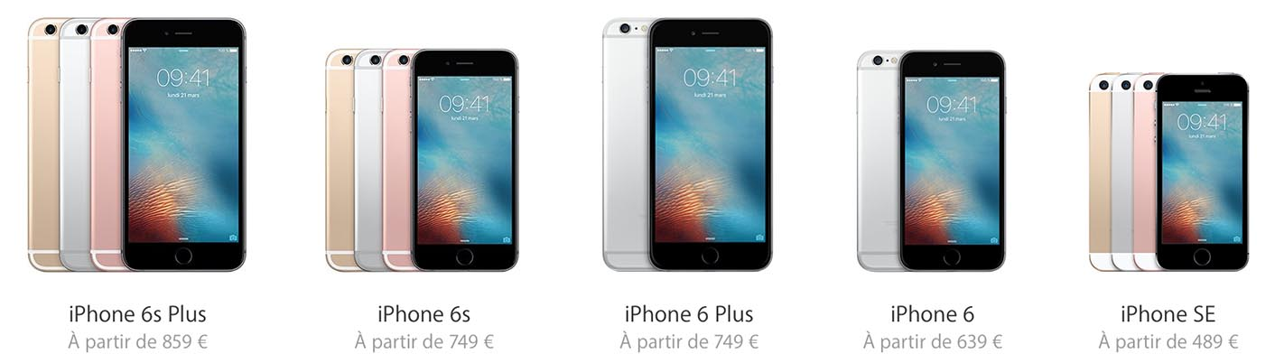 iPhone 2016 gamme