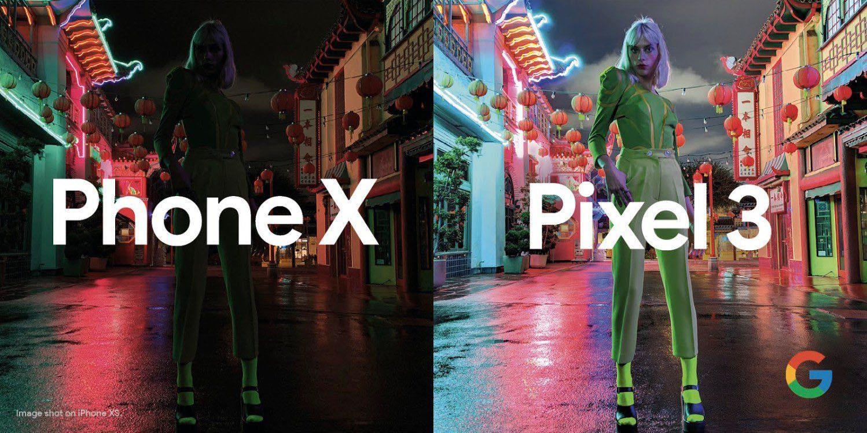 Mode vision de nuit Pixel 3 Phone X Google