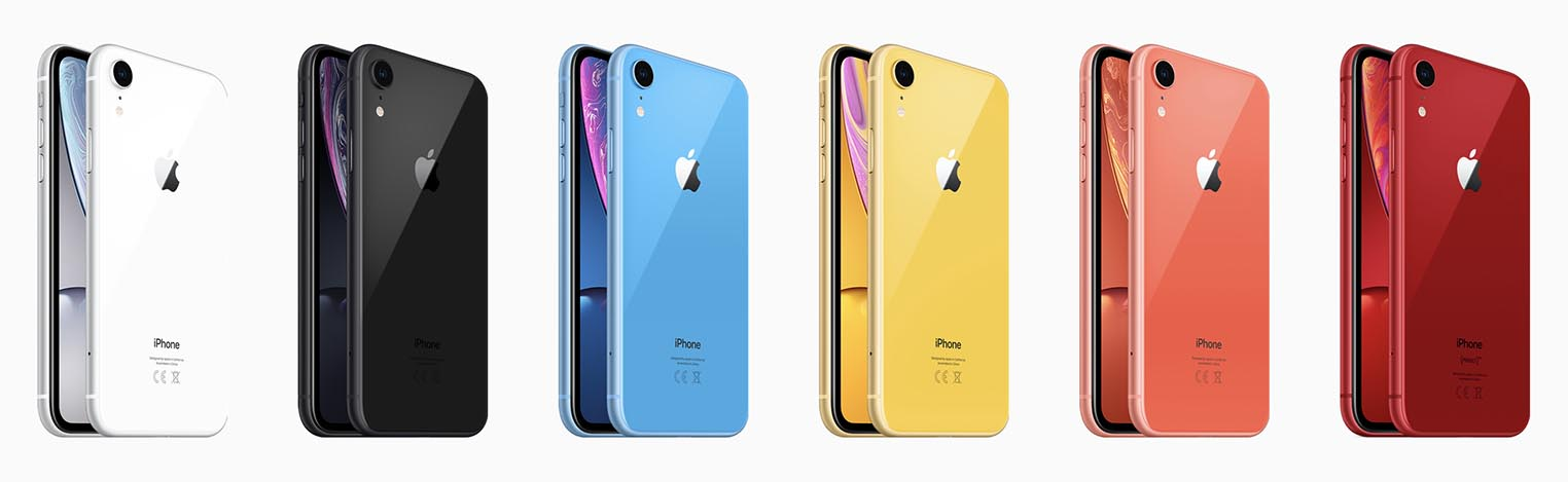 iPhone XR couleurs