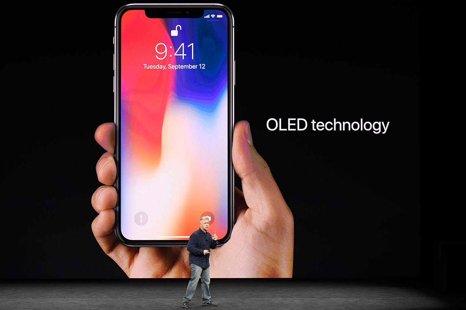 iPhone OLED keynote Phil Schiller