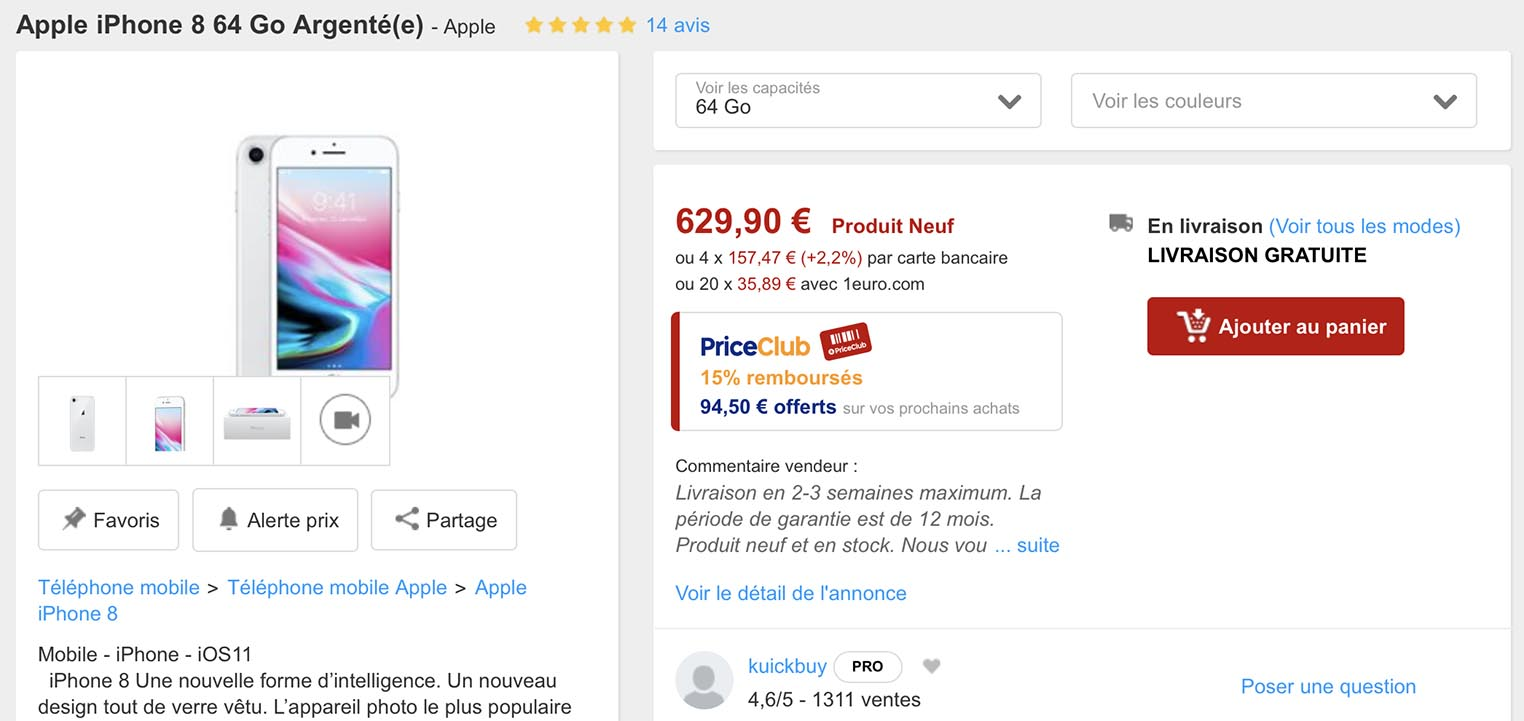 17f73c70424e7f Consomac   PriceMinister   grosses promos sur les iPhone 8 et X