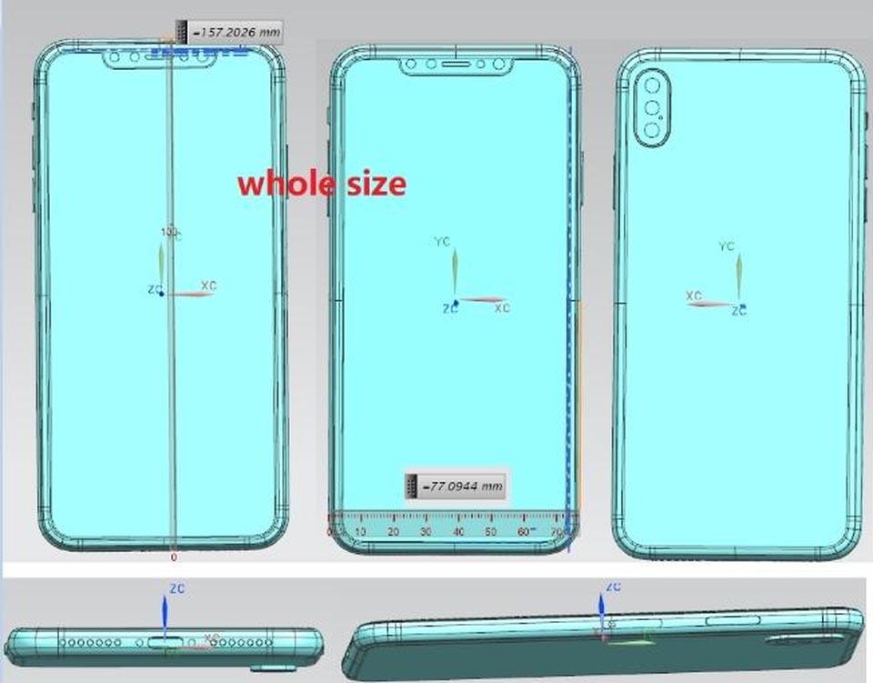 iPhone X Plus 2018 schéma