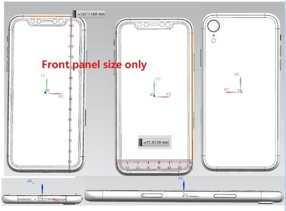 iPhone X LCD 2018 schéma