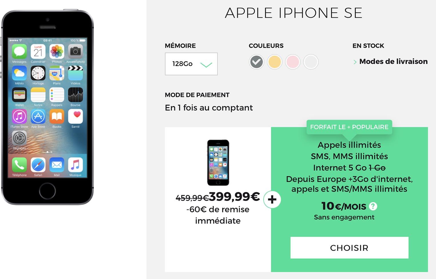iPhone SE promo SFR RED