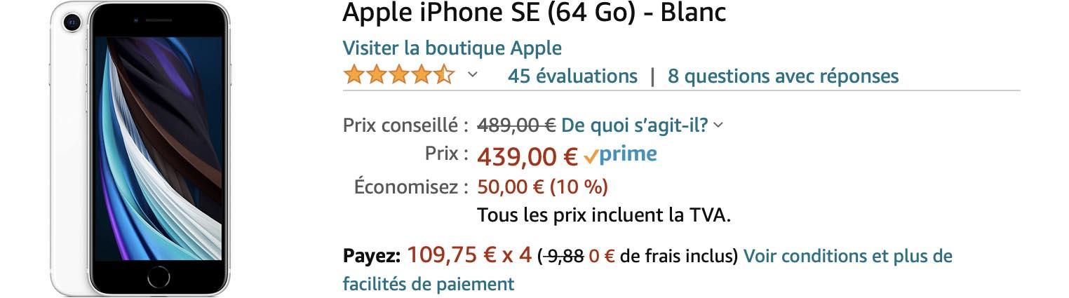 iPhone SE promo Amazon