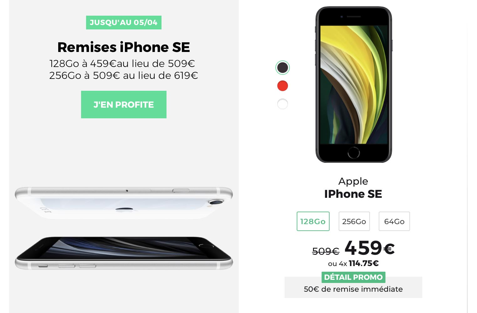 iPhone SE promo SFR RED