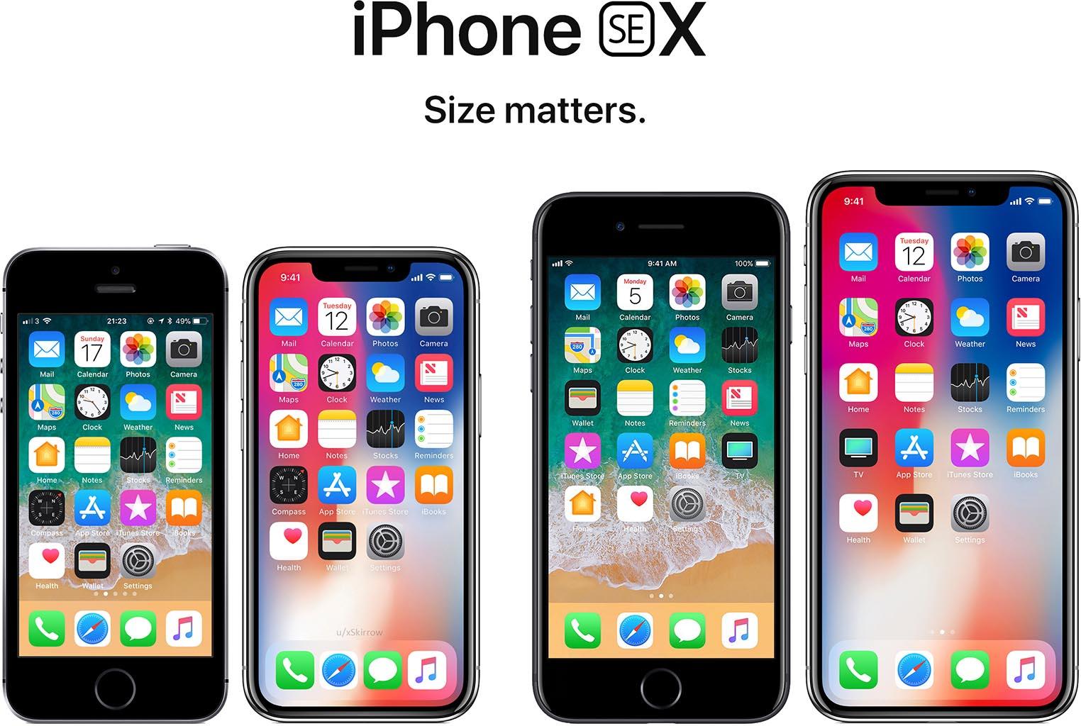 iPhone SE X Size Matters