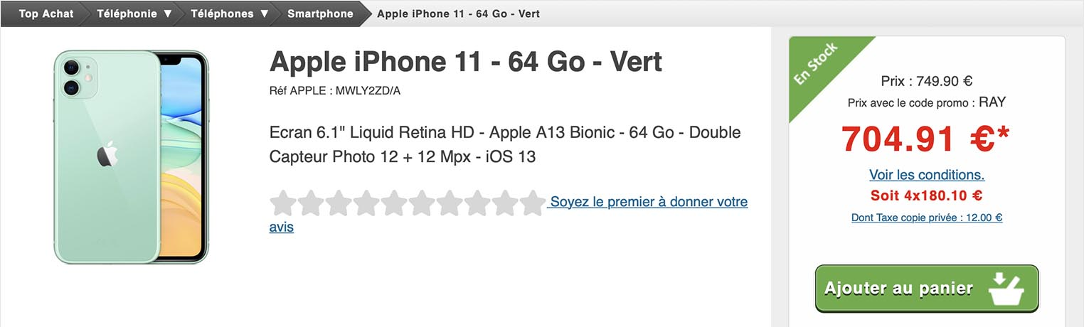iPhone 11 Top Achat