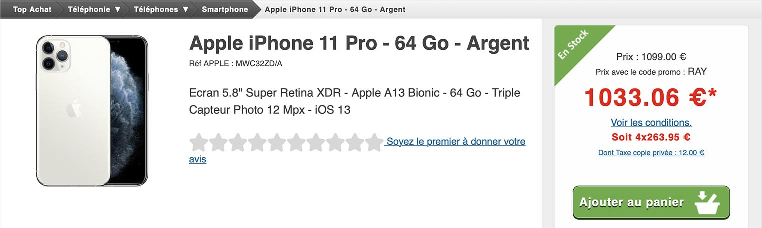 iPhone 11 Pro Top Achat
