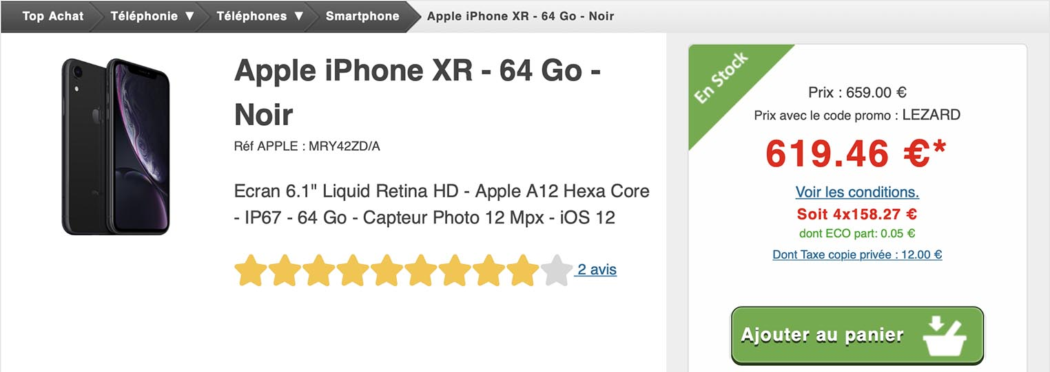 iPhone XS Top Achat