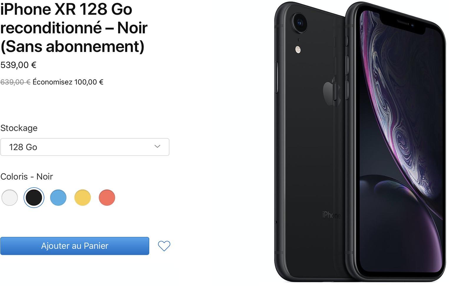 iPhone XR Refurb Store
