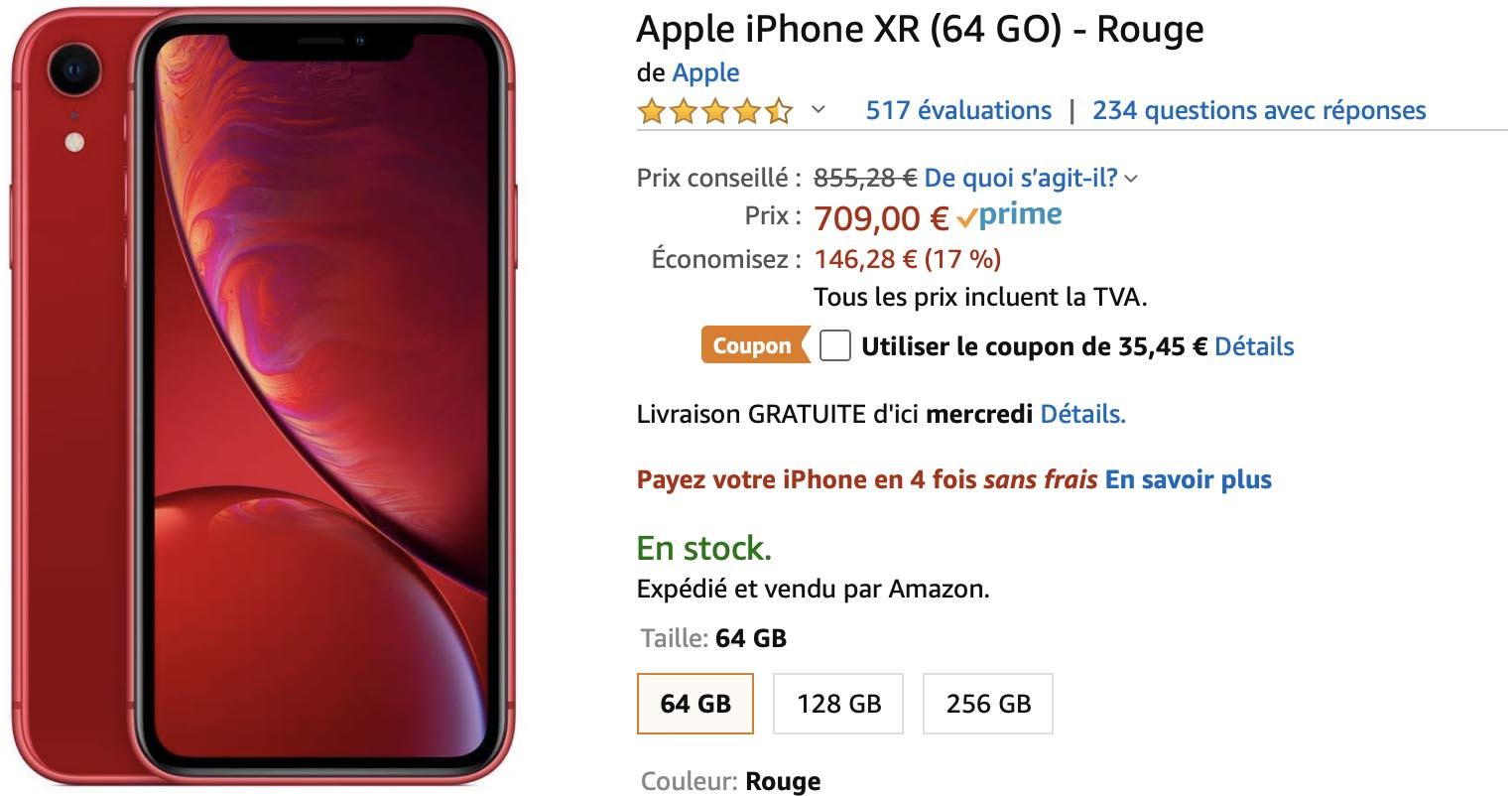 iPhone XR Rouge Amazon
