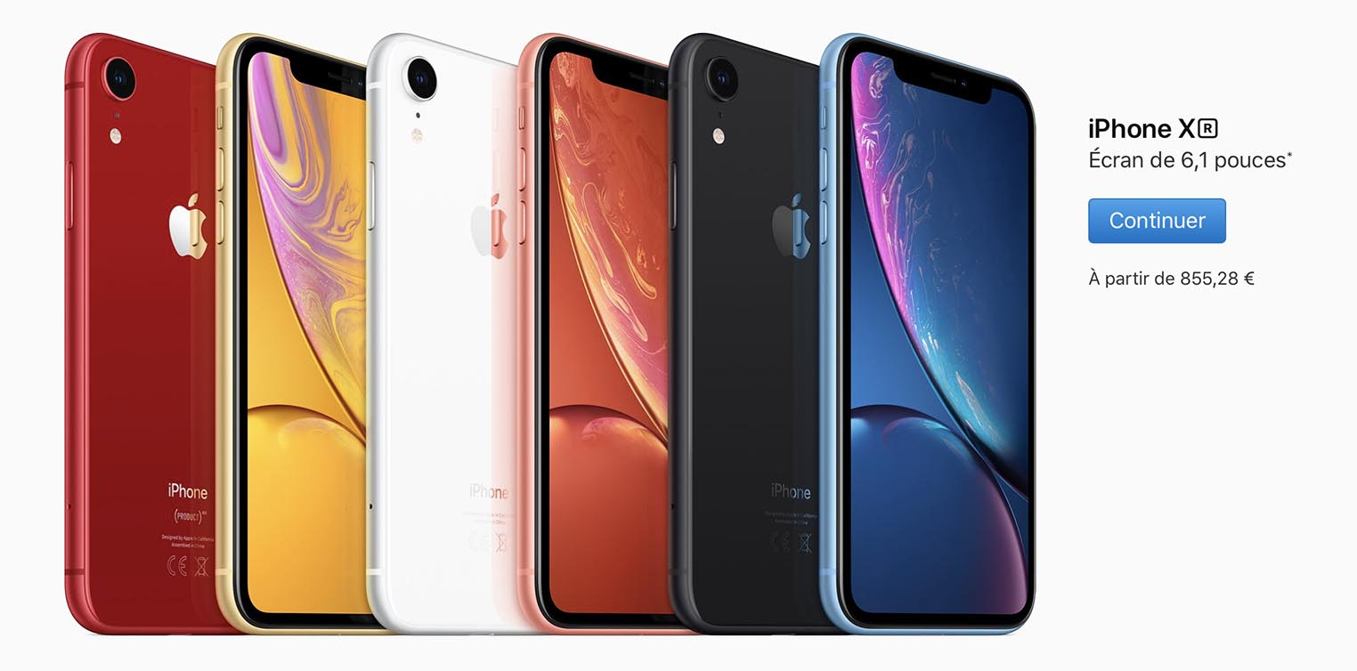 iPhone XR précommandes