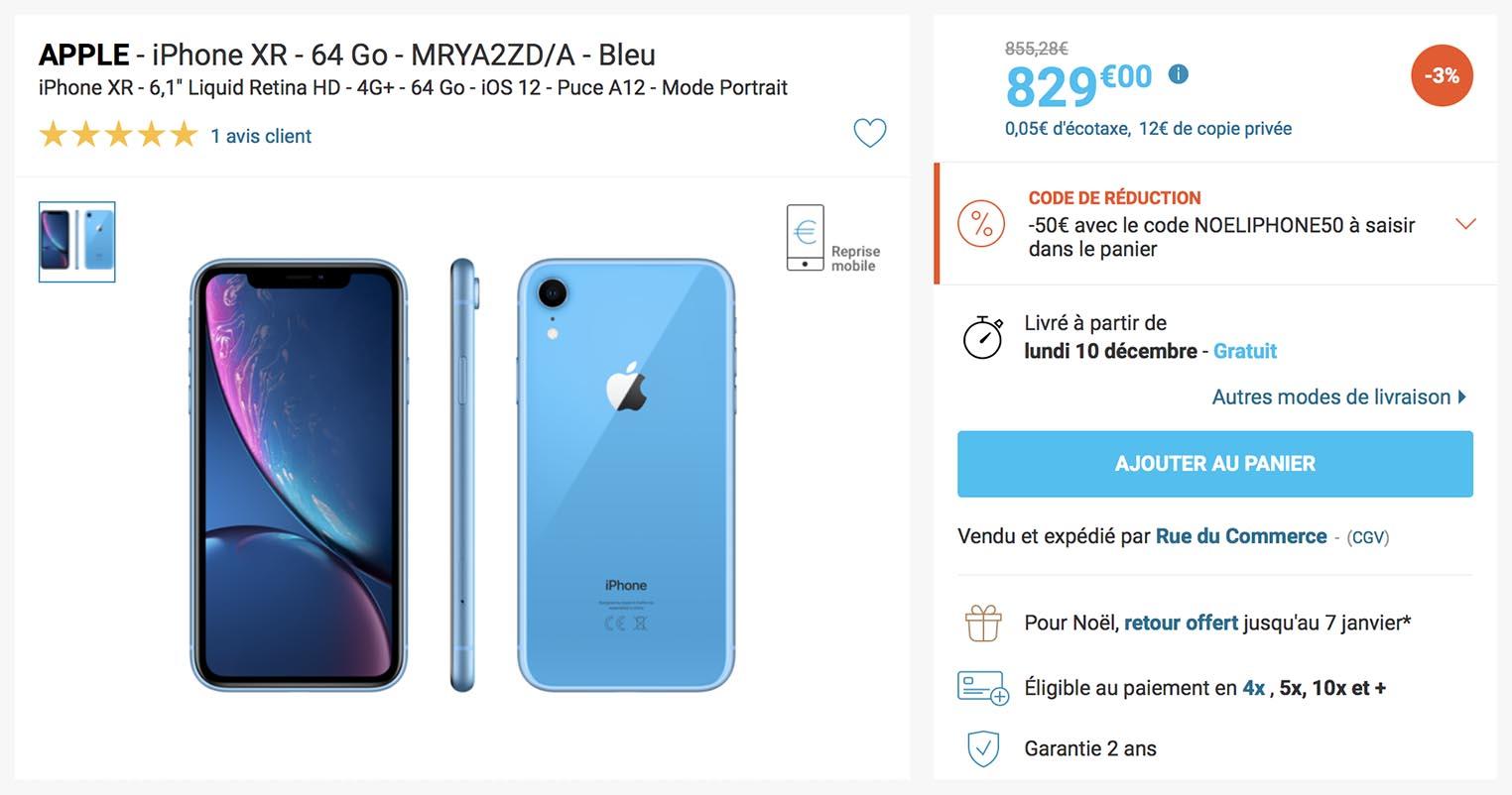 iPhone XR promo Rue du Commerce