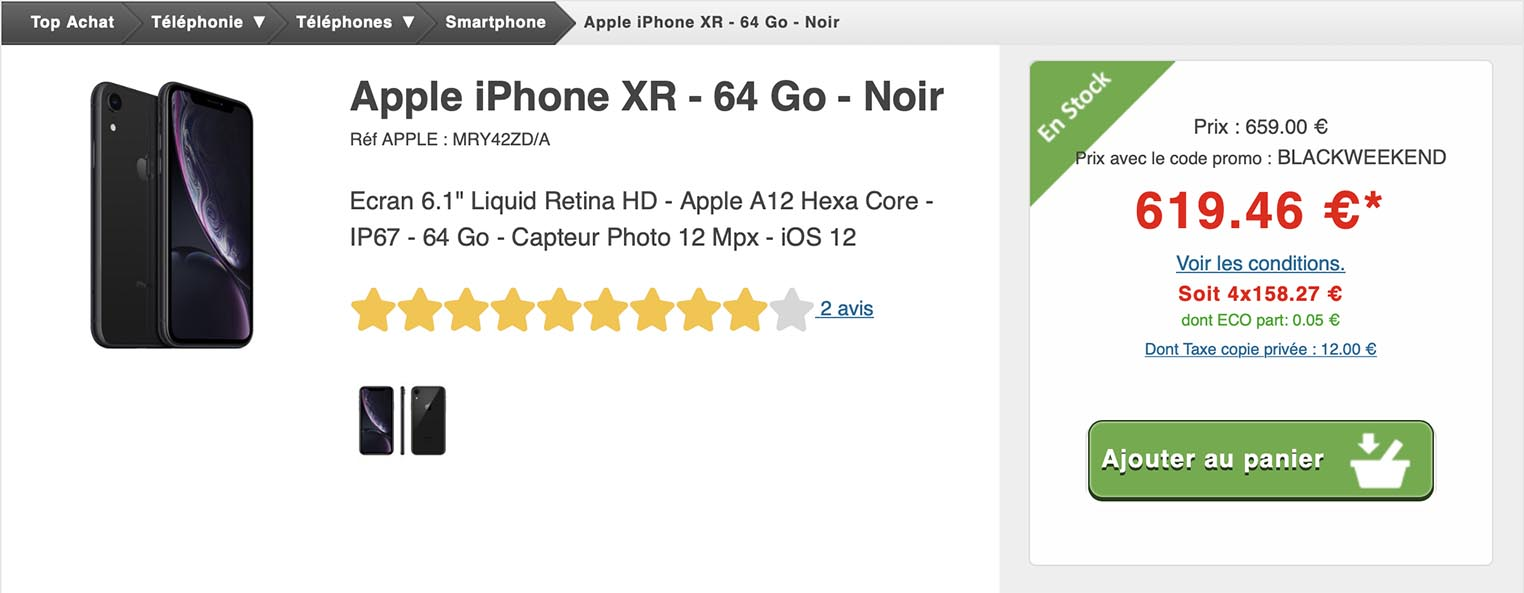 iPhone XR Top Achat