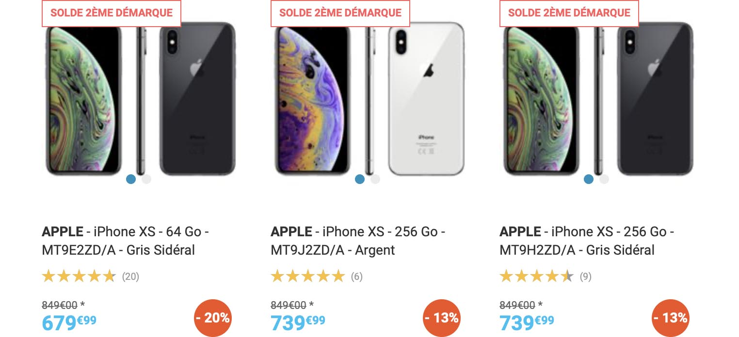 iPhone XS Rue du Commerce