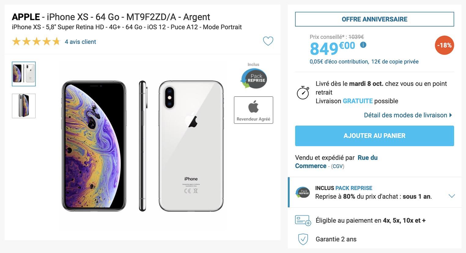 iPhone XS Rue du Commerce