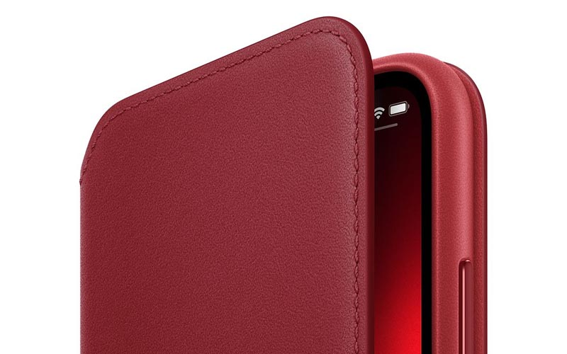 Un étui folio en cuir RED pour l'iPhone XS à 33,84 € (-72%)