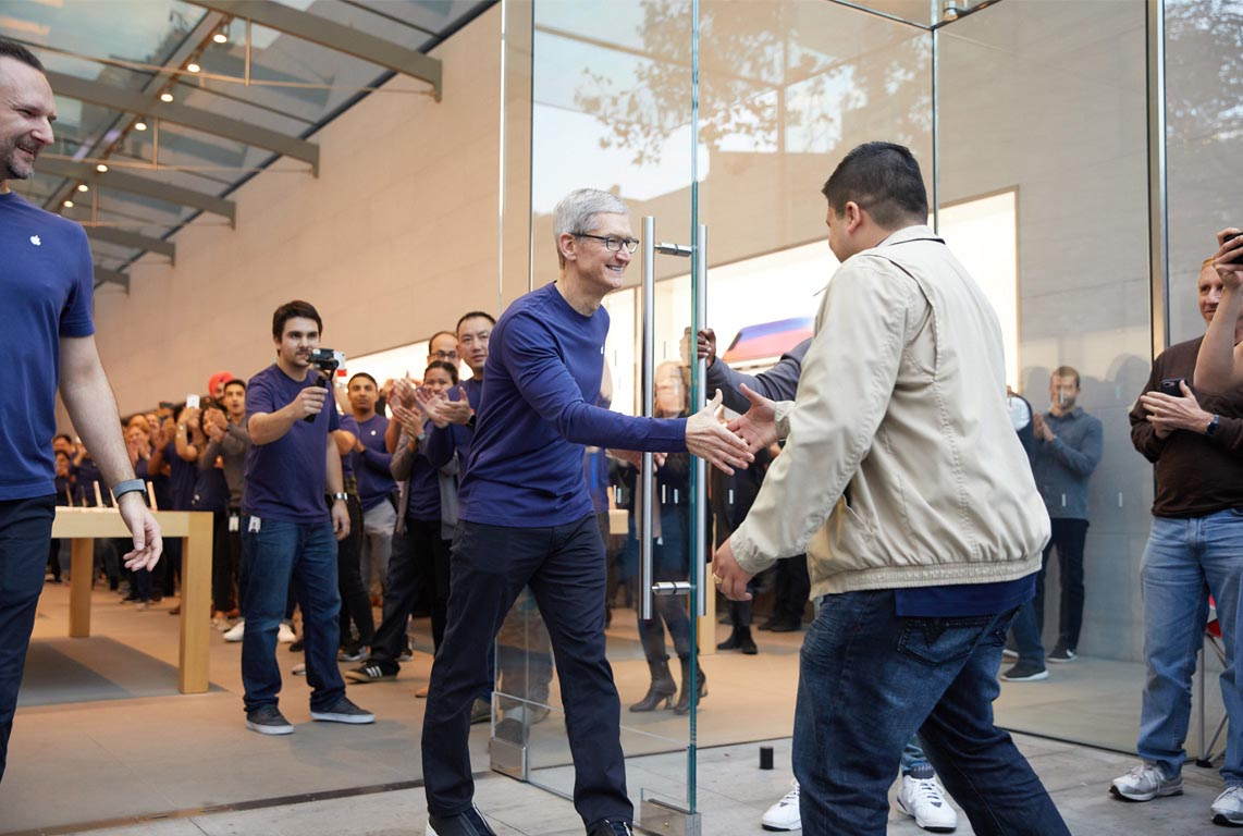 iPhone X Tim Cook Palo Alto