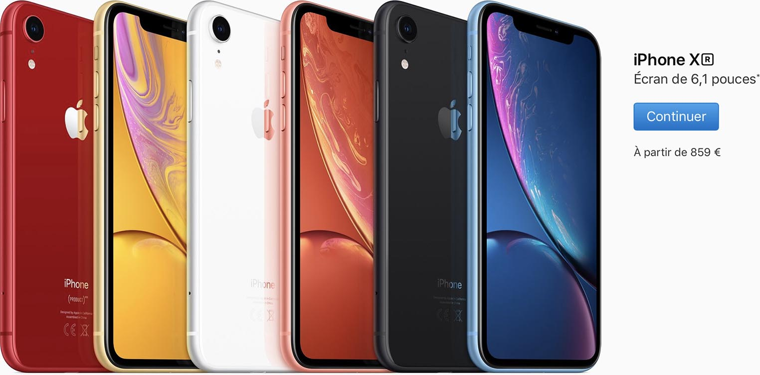 iPhone XS prix