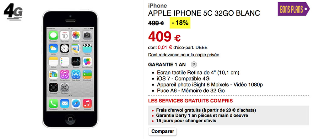 Vendre Iphone C Go