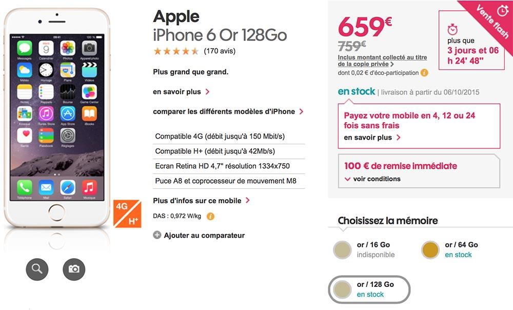 consomac grosse promo sur les iphone 6 et 6 plus de 128 go. Black Bedroom Furniture Sets. Home Design Ideas