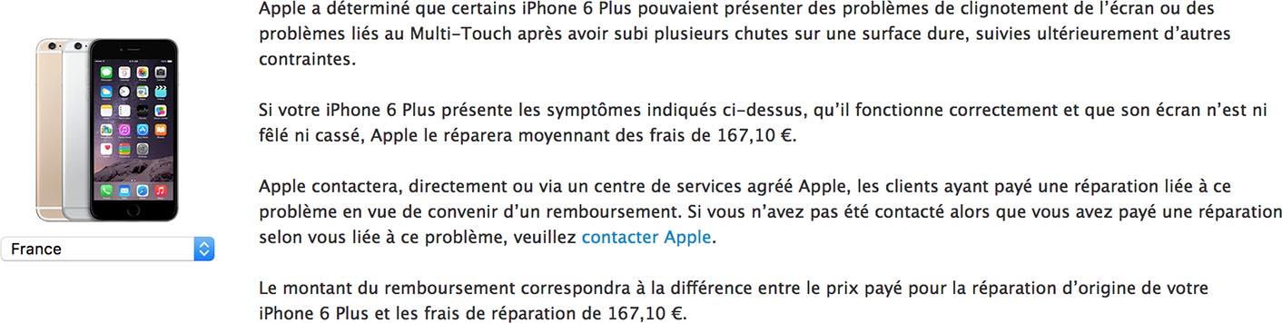 iPhone 6 Plus écran réparation