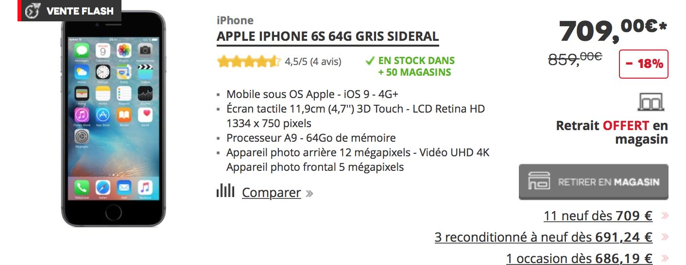 iPhone 6s 64 Go