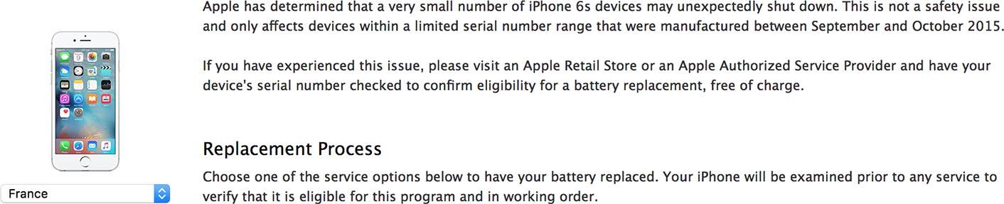 iPhone 6s programme extinction