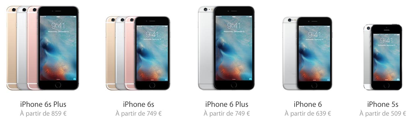 iPhone 6s gamme