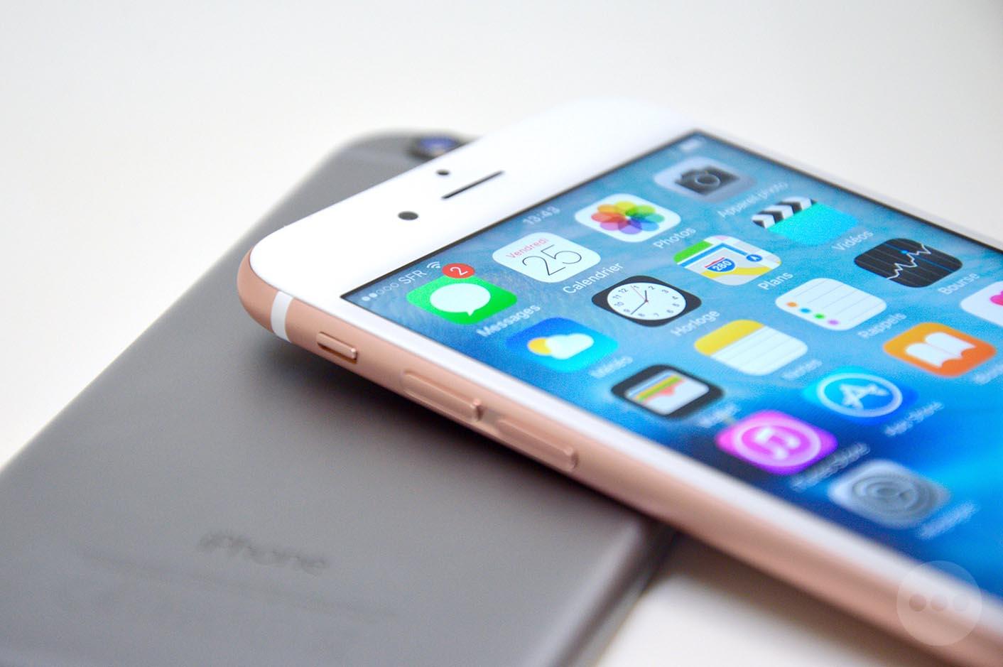 iPhone 6s rose comparaison couleur