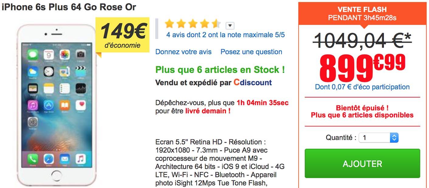 Consomac une vente flash sur les iphone 6s plus - Vente flash c discount ...