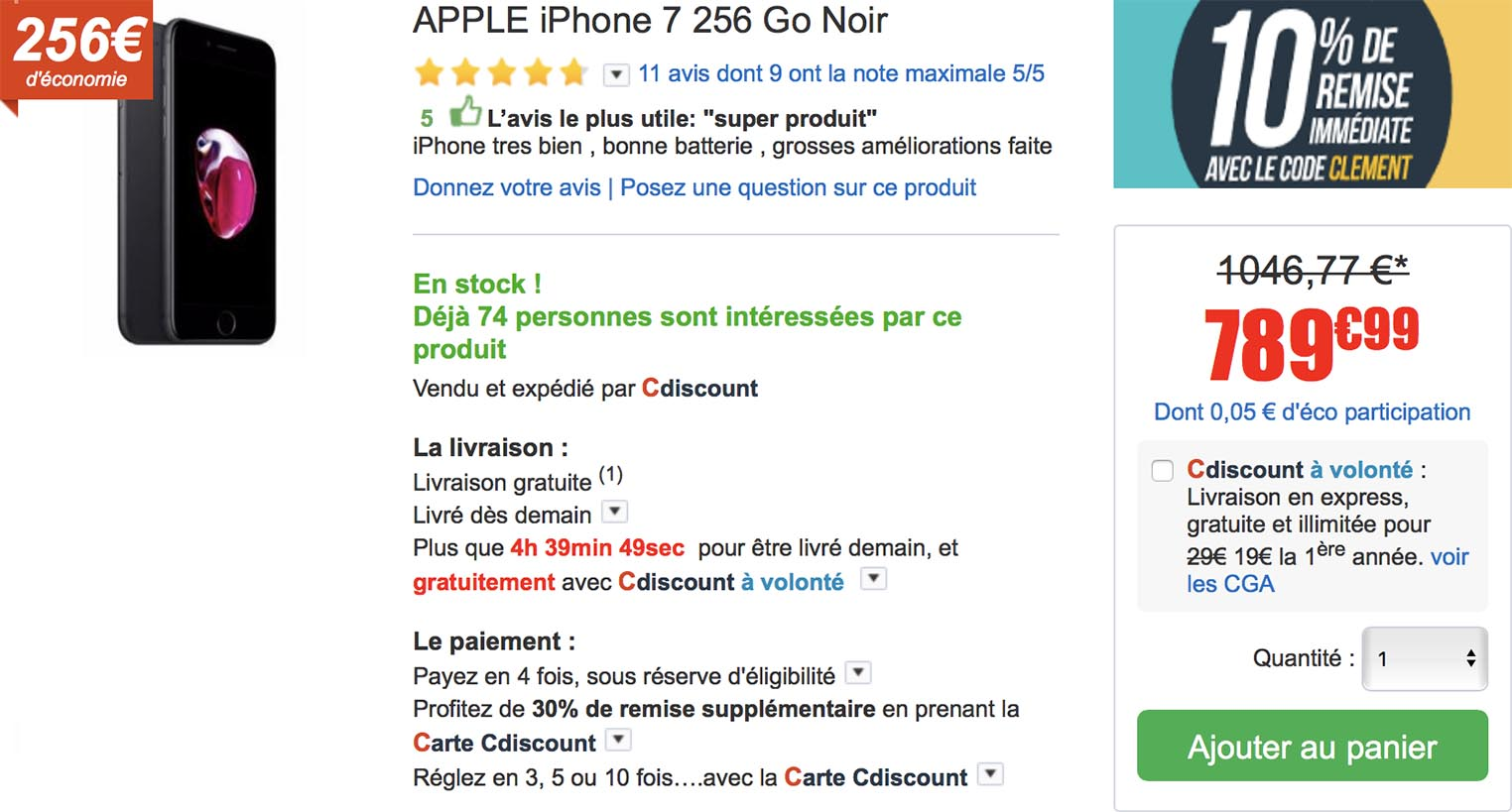 iPhone 7 CDiscount